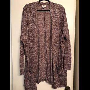 Old Navy Purple Heathered Long Cardigan size XXL